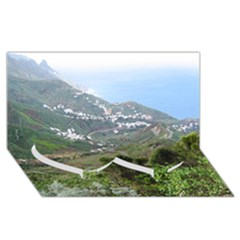 Tenerife 10 Twin Heart Bottom 3d Greeting Card (8x4)