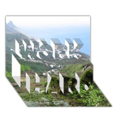 Tenerife 10 WORK HARD 3D Greeting Card (7x5)