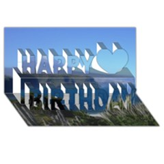 Panted Landscape Tenerife Happy Birthday 3d Greeting Card (8x4)