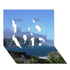 Panted Landscape Tenerife Love 3d Greeting Card (7x5)
