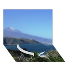 Panted Landscape Tenerife Circle Bottom 3D Greeting Card (7x5)