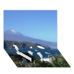 Panted Landscape Tenerife LOVE Bottom 3D Greeting Card (7x5)