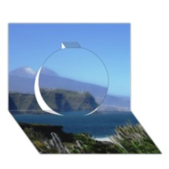 Panted Landscape Tenerife Circle 3D Greeting Card (7x5)