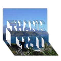 Panted Landscape Tenerife Thank You 3d Greeting Card (7x5)