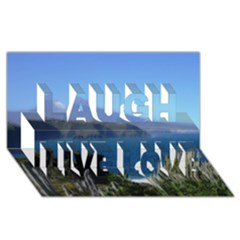 Panted Landscape Tenerife Laugh Live Love 3D Greeting Card (8x4)