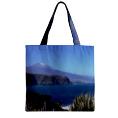 Panted Landscape Tenerife Zipper Grocery Tote Bags