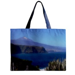 Panted Landscape Tenerife Zipper Tiny Tote Bags
