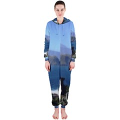 Panted Landscape Tenerife Hooded Jumpsuit (Ladies)