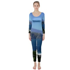 Panted Landscape Tenerife Long Sleeve Catsuit