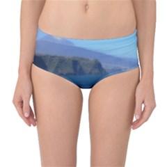 Panted Landscape Tenerife Mid-Waist Bikini Bottoms