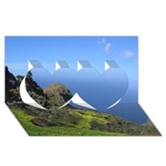 Tenerife 09 Twin Hearts 3d Greeting Card (8x4)