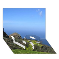 Tenerife 09 LOVE Bottom 3D Greeting Card (7x5)