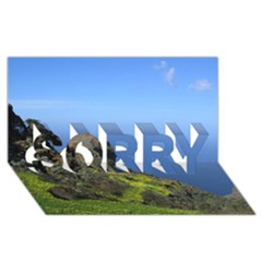 Tenerife 09 Sorry 3d Greeting Card (8x4)