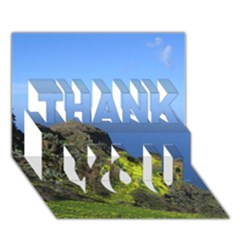 Tenerife 09 THANK YOU 3D Greeting Card (7x5)