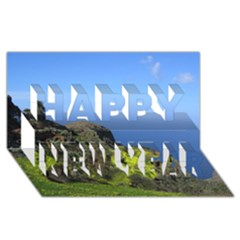 Tenerife 09 Happy New Year 3D Greeting Card (8x4)