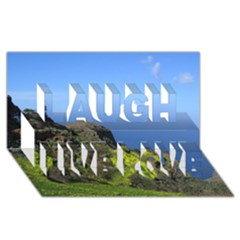 Tenerife 09 Laugh Live Love 3d Greeting Card (8x4)