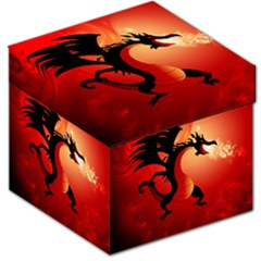 Funny, Cute Dragon With Fire Storage Stool 12