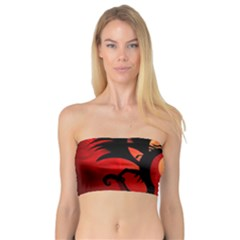 Funny, Cute Dragon With Fire Women s Bandeau Tops