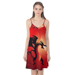 Funny, Cute Dragon With Fire Camis Nightgown