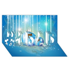 Wonderful Christmas Ball With Reindeer And Snowflakes #1 DAD 3D Greeting Card (8x4)