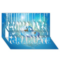 Wonderful Christmas Ball With Reindeer And Snowflakes Congrats Graduate 3D Greeting Card (8x4)