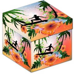 Tropical Design With Surfboarder Storage Stool 12