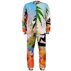 Tropical Design With Surfboarder Onepiece Jumpsuit (men)