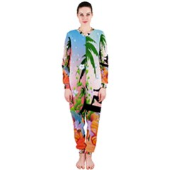 Tropical Design With Surfboarder OnePiece Jumpsuit (Ladies)