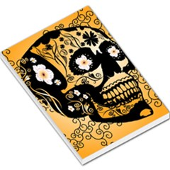 Sugar Skull In Black And Yellow Large Memo Pads