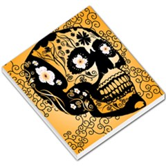 Sugar Skull In Black And Yellow Small Memo Pads