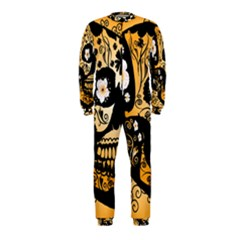 Sugar Skull In Black And Yellow OnePiece Jumpsuit (Kids)