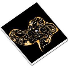 Beautiful Elephant Made Of Golden Floral Elements Small Memo Pads