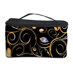 Beautiful Elephant Made Of Golden Floral Elements Cosmetic Storage Cases