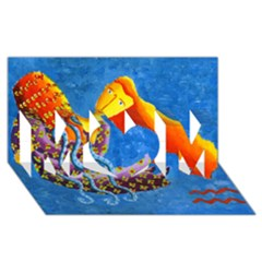 Aquarius  MOM 3D Greeting Card (8x4)