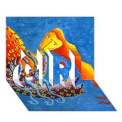 Aquarius  GIRL 3D Greeting Card (7x5)
