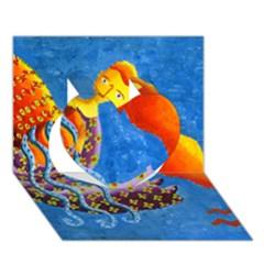 Aquarius  Heart 3d Greeting Card (7x5)