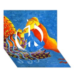 Aquarius  Peace Sign 3d Greeting Card (7x5)