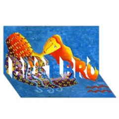Aquarius  BEST BRO 3D Greeting Card (8x4)
