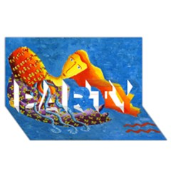 Aquarius  PARTY 3D Greeting Card (8x4)