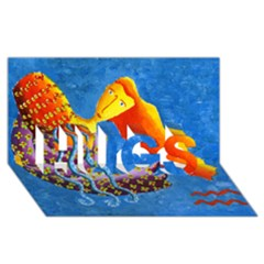 Aquarius  Hugs 3d Greeting Card (8x4)