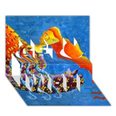 Aquarius  Get Well 3D Greeting Card (7x5)