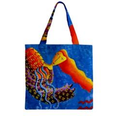 Aquarius  Zipper Grocery Tote Bags
