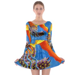 Aquarius  Long Sleeve Skater Dress