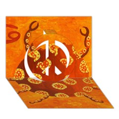 Cancer Zodiac Sign Peace Sign 3D Greeting Card (7x5)