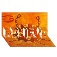 Cancer Zodiac Sign Believe 3d Greeting Card (8x4)