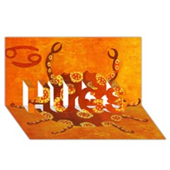 Cancer Zodiac Sign HUGS 3D Greeting Card (8x4)