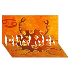 Cancer Zodiac Sign ENGAGED 3D Greeting Card (8x4)