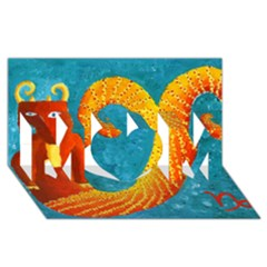 Capricorn Zodiac Sign MOM 3D Greeting Card (8x4)
