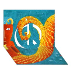 Capricorn Zodiac Sign Peace Sign 3d Greeting Card (7x5)