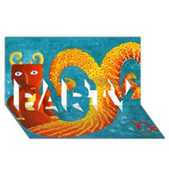 Capricorn Zodiac Sign Party 3d Greeting Card (8x4)